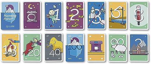 Carte da poker Agile Planning - aumenta la comunicazione e la motivazione nella tua squadra - per 4 persone - Versione Ulassa