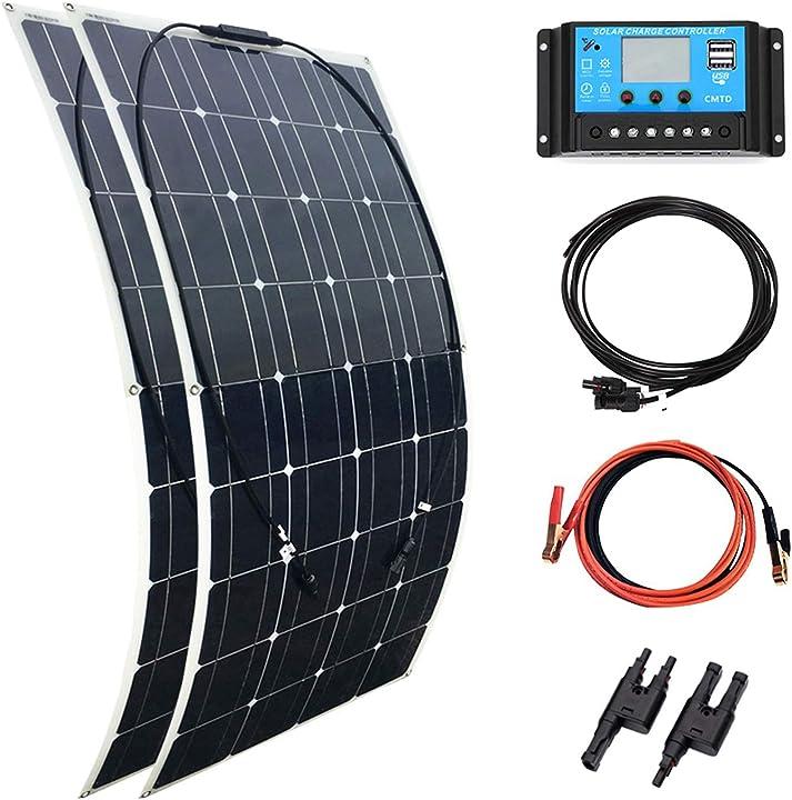 Pannello solare flessibile 200 w 2 pz 100 w 18 v modulo monocristallino xinpuguang kit XPG-50200W