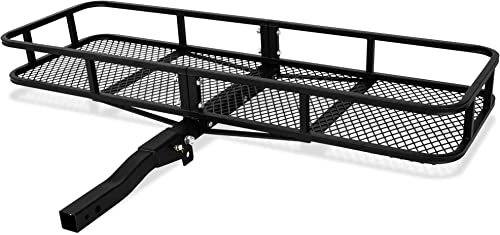 """high quality ARKSEN 60"""" x 24"""" x 6"""" Hitch Mount new arrival Folding Angled Shank Cargo Carrier Luggage Basket Fit 2"""" Receiver 500LBS Capacity outlet online sale Camp Travel Fold Up SUV Camping, Black online"""