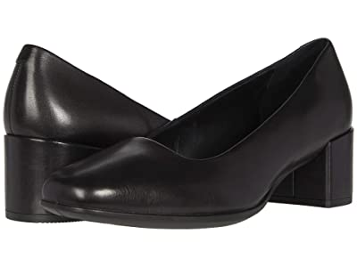 ECCO Shape 35 Squared Pump (Black Cow Leather) Women