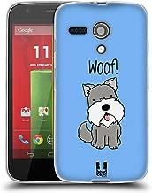 Head Case Designs Schnauzer Happy Puppies Soft Gel Case Compatible for Motorola Moto G (1st Gen)