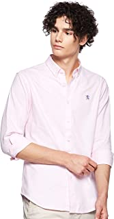 Giordano Men's 01048083 Oxford shirt with Small Lion Embroidery