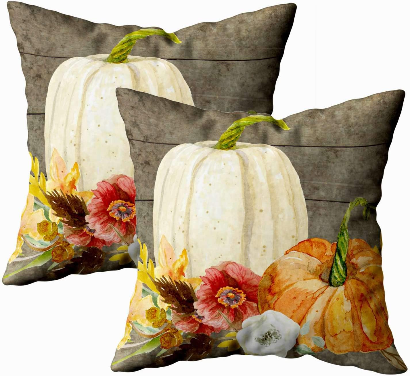 Shorping Sofa Pillow Zippered Pillowcases free Over item handling Thro 20X20Inch Pack 2