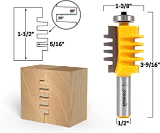 Yonico 15141 1-1/2-Inch Easy Setup Finger Joint Router Bit 1/2-Inch Shank