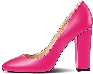 Soireelady - Scarpe da Donna - Tacco a Blocco - 10CM - Scarpe col Tacco