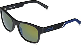 Lacoste L829snd Plastic Rectangular Novak Djokovic Capsule Collection Sunglasses, Black, 54 mm