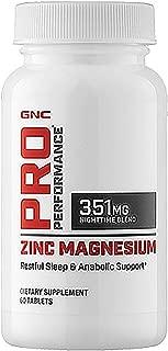 GNC Pro Performance Zinc Magnesium 60 Tablets