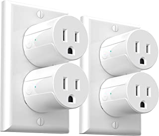 Wi-Fi Smart Plug, Mini Outlets Smart Socket No Hub Required Timing Function Control Your Electric Devices from Anywhere Co...