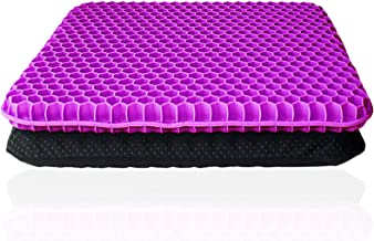 Gel Seat Cushion Breathable Thick Egg Chair Cushions, Non-Slip Cover, Honeycomb Design Absorbs Pressure Points Pain Relief...