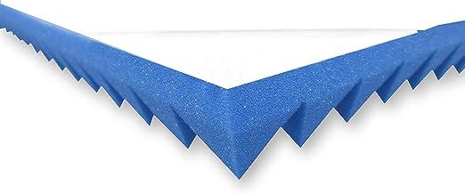 49/cm x 49/cm x 7/cm aprox /isof/ónica alfombrillas efectiva para Ac/ústica aislamiento Akustikpur Espuma ac/ústica Pyramide Espuma auto-adhesivos/