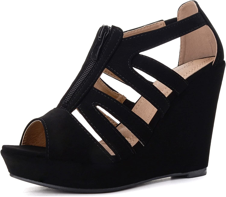 Mila Lady Lisa 5 Strappy Open Toe Platform Wedges