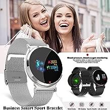 Sincerest Smart Watch Men Women Fitness Tracker HD IPS Screen Intelligent Wristband Sleep Blood Pressure Heart Rate Monitor Call Reminder Waterproof Business Sport Bracelet Pedometer Alarm Clock