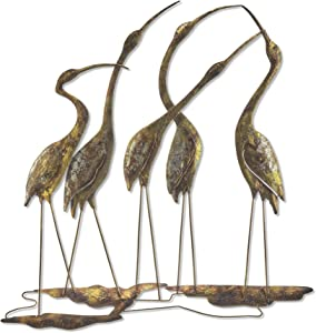 Eangee Home Design Shorebirds Wall Decor Group Of Five 21 Inches Length x 1 Inch Width x 22 Inches Height (m7002)