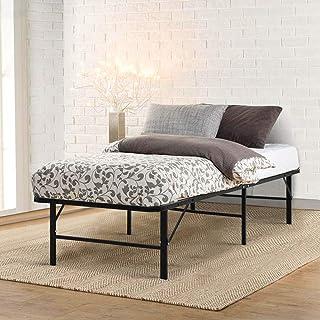 Single Bed Frame, Artiss Foldable Platform Metal Bed Base, Black
