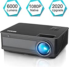 Projector, WiMiUS P18 Upgraded 6000 Lumens LED Movie Projector 1080P Full HD Support..