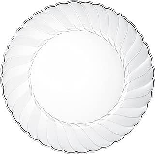 Premium Clear Plastic Plates By Alpha & Sigma - 100pcs 6
