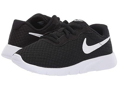 Nike Kids Tanjun Wide (Little Kid) (Black/White/White) Boys Shoes