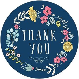 ملصقات لاصقة دائرية من Andaz Press، 2 بوصة، إكليل زهور أزرق داكن، 80 قطعة ملونة لعيد الميلاد وحفلات الزفاف