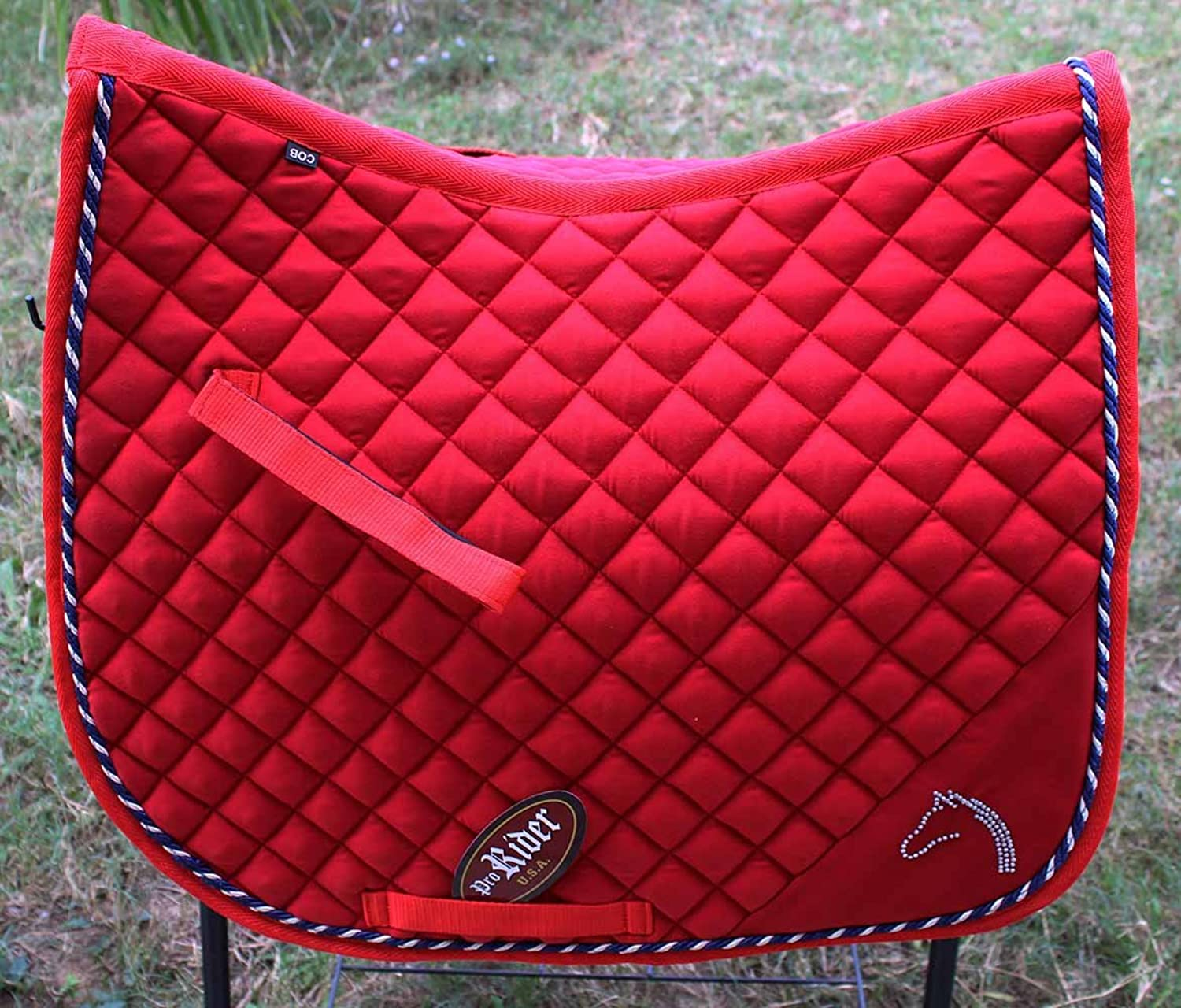 St. Charles Horse Quilted English Saddle PAD Tack Trail Riding Red 7266