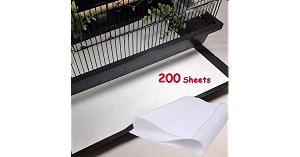 Round-200 Sheets Parrot Pet Cages Cushion Pad Mat Accessories Bonaweite Disposable Non-Woven Bird Cage Liners Papers