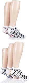 Farah Mens Striped Bamboo Trainer Socks Pack of 5