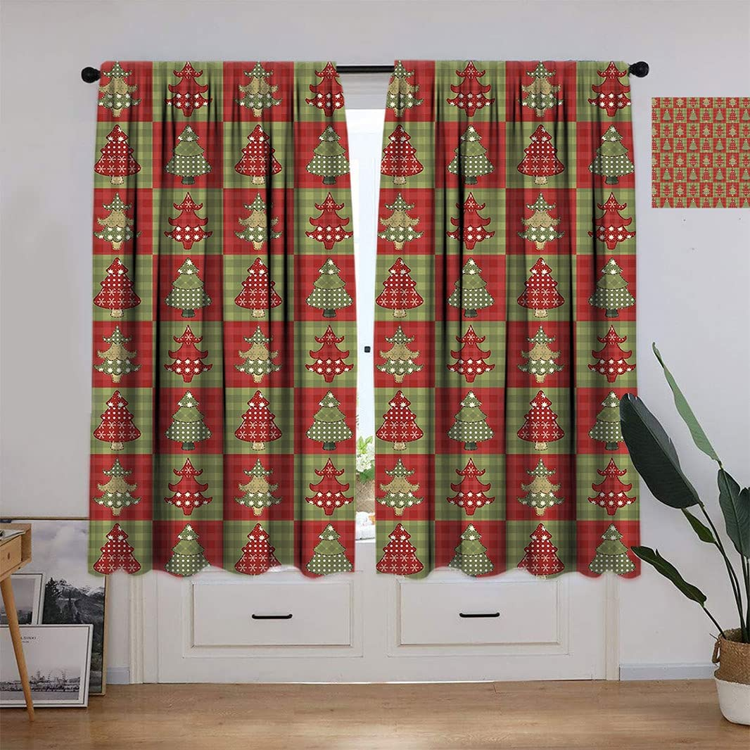 Christmas Thermal Insulation Curtain Max 81% OFF for Room Baltimore Mall Different S Living