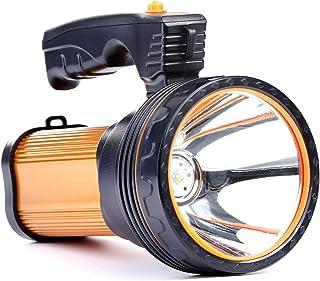 Allflash High Power Super Bright Portable Handheld spotlight Flashlight 6000 Lumens USB Rechargeable LED Searchlight Water...