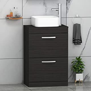 Hudson Reed Compact Fitted Vanity Unit 500mm Wide Hacienda Black Flush Bathrooms