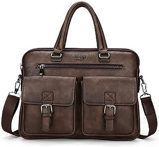 شنطة جيب للرجال- بني - حقائب المراسلين - 2724729889941