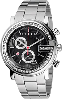 Gucci G Chrono 44mm Chronograph Stainless Steel w/ Diamonds Watch-YA101324
