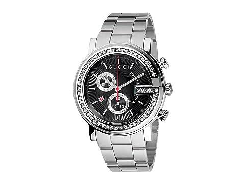 Gucci G Chrono 44mm Chronograph Stainless Steel w/ Diamonds Watch-YA101324