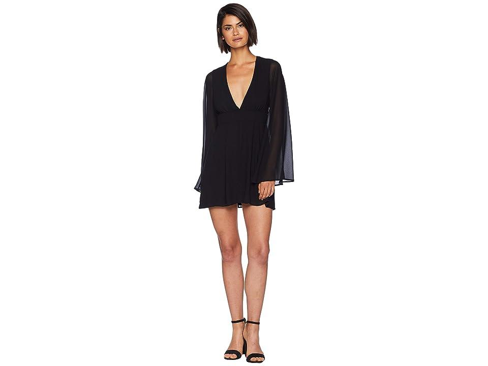 Show Me Your Mumu Athena Mini Dress (Black Chiffon) Women