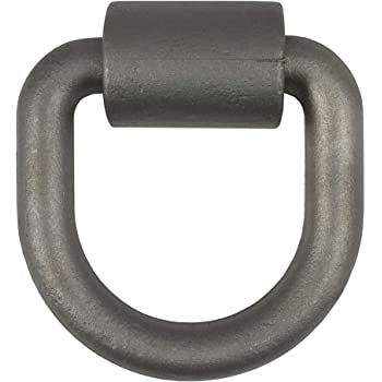 CURT 83760 4-1/4 x 4-1/2-Inch Weld-On Trailer D-Ring Tie Down Anchor, 26,500 lbs Break Strength