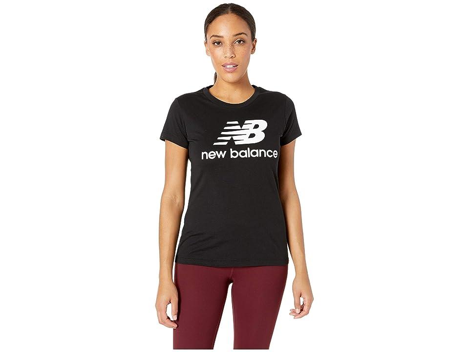 New Balance Essentials Stacked Logo Tee (Black) Women