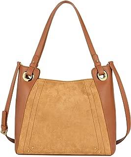 Genuine Leather Tote Bag for Women, Large Shoulder Satchel Purse and Handbag