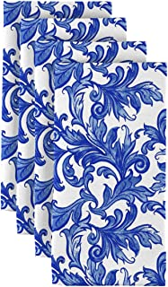 Fabric Textile Products Vines of Blue Dinner Napkins - Set of 12