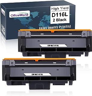 OfficeWorld MLT-D116S MLT-D116L Reemplazo para Samsung D116S D116L Cartucho de Toner para Samsung Xpress M2675FN M2675F M2825DW M2825ND M2835DW M2875FW M2875FD M2885FW M2625D M2675 M2825 (2 Negro)