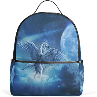 MUOOUM Unicorn Galaxy Lunar Backpack Casual Daypack School College Travel Bag for Teens Boys Girls