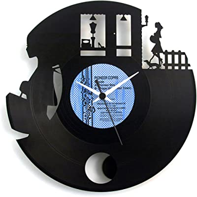 Wall clock For Faschion shop opening gift Boutique Faschion with pendulum Vinyl Clock Clothing shop gift