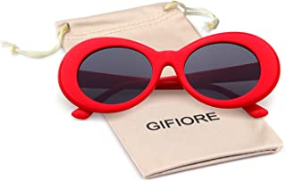 a9f82cb0d0e Bold Retro Oval Mod Thick Frame Sunglasses Clout Goggles with Round Lens