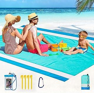 Beach Blanket Sandproof,Oversized Waterproof Beach Mat...