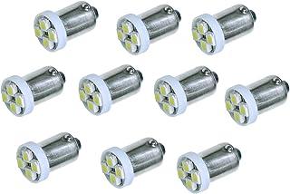 PA® 新発売 10個入り BA9S 4連 3528SMD LED PINBALL ライト電球 6.3V