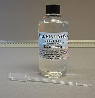 MEGA-STEAM DIESEL POWER SCENTED SMOKE FLUID 8 oz w/ SMOKE DROPPER