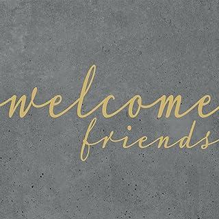 Tissue 33 x 33 cm 20 St/ück Taupe // Wei/ß PPD Welcome Friends Servietten 1332005 Tischservietten