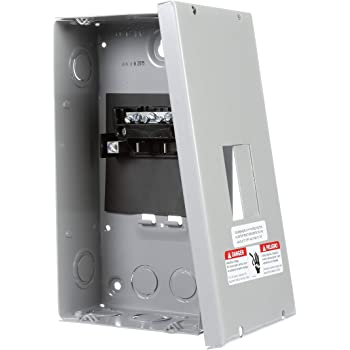 Murray LC002GSU Load Center, 2 Space, 4 Circuit, 60A Main Lug, Indoor, Surface mount