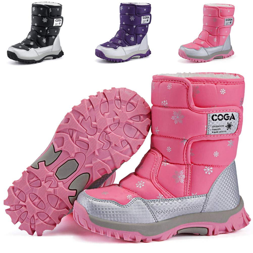 DADAWEN Boy's Girl's Outdoor Waterproof Cold Weather Snow Boots(Toddler/Little  Kid/Big Kid)- Buy Online in Bermuda at bermuda.desertcart.com. ProductId :  83451893.