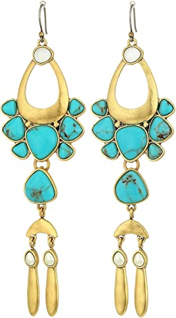 Lucky Brand Circle Turquoise Statement Earrings