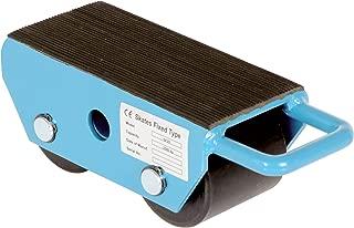 Vestil FMS-2.5 Fixed Machinery Skate with 2 Nylon Roller, Steel, 8-1/4