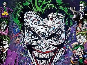 Joker Bavkdrop Party Supplies Banner Wall Hanging Wall Art for Bedroom Living Room Home Decor 6x5Ft