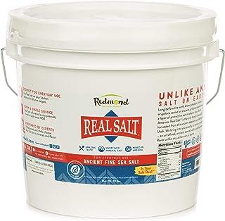 Redmond Real Sea Salt - Natural Unrefined Organic Gluten Free Fine, 10 Pound Bucket